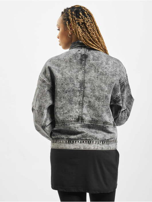 Missguided Denim Jacket 80s Batwing Oversized gray
