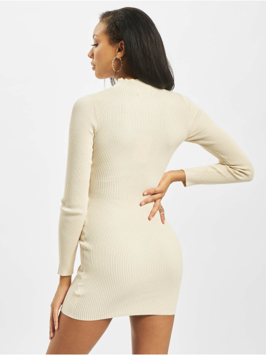 Missguided Dress High Neck Knitted beige