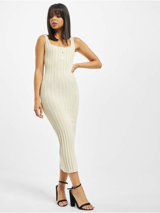 Missguided Dress Petite Knitted Rib beige