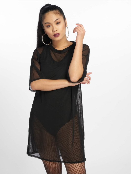 Missguided Dress Oversized Mesh black