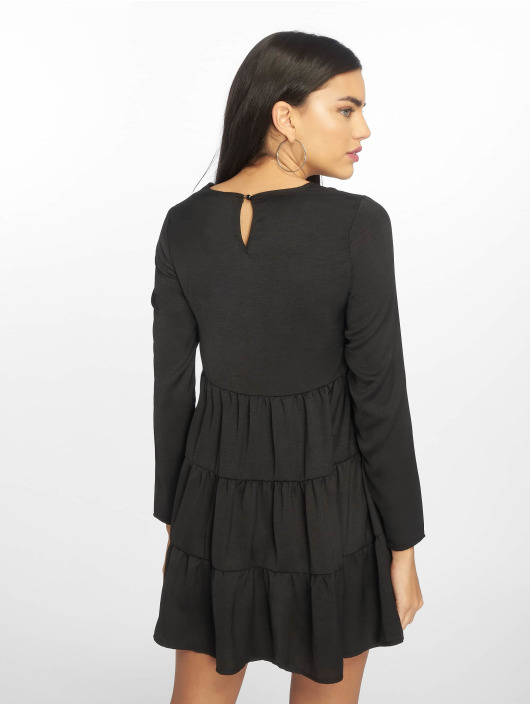 Missguided Dress Long Sleeve Smock black