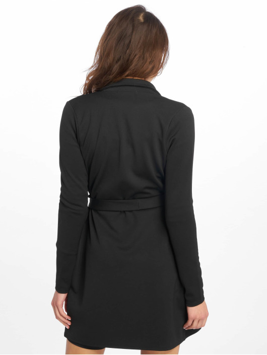 Missguided Dress Long Sleeve Belted Blazer black