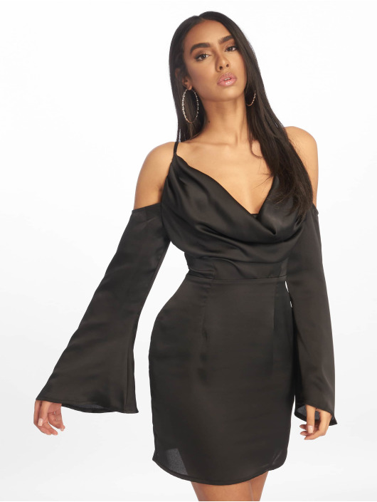 Missguided Dress Satin Cowl Cold black