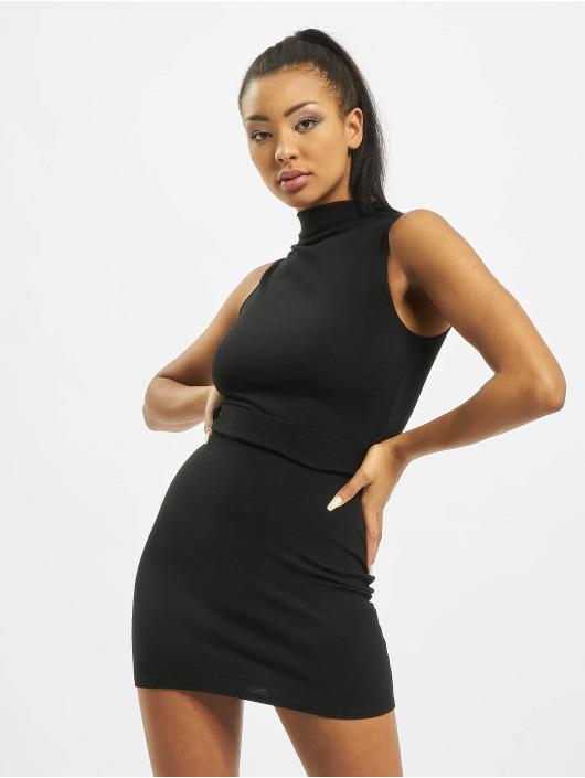 Missguided Dress High Neck Tie Waist black