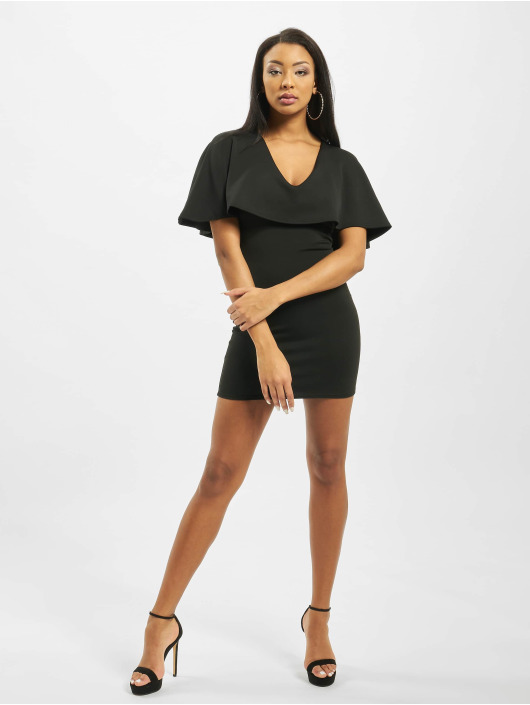 Missguided Dress Cape V Neck Bodycon Mini black