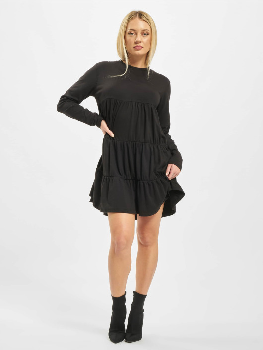 Missguided Dress Jersey Tiered black