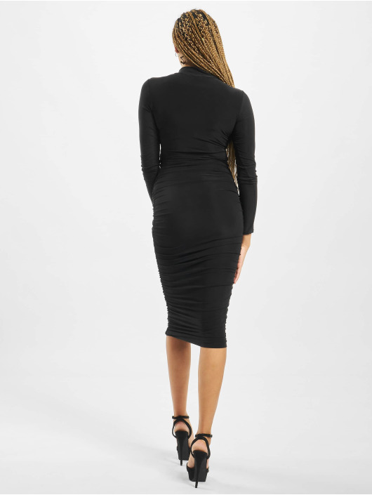 Missguided Dress High Neck Longsleeve Ruched black