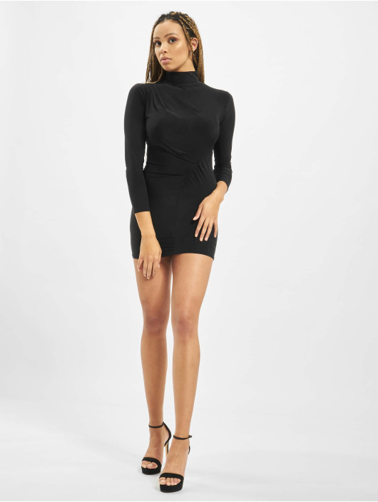 Missguided Dress Petite High Neck Rouched black