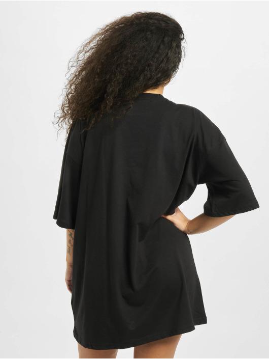 Missguided Dress Playboy Diamante Lips T-Shirt black