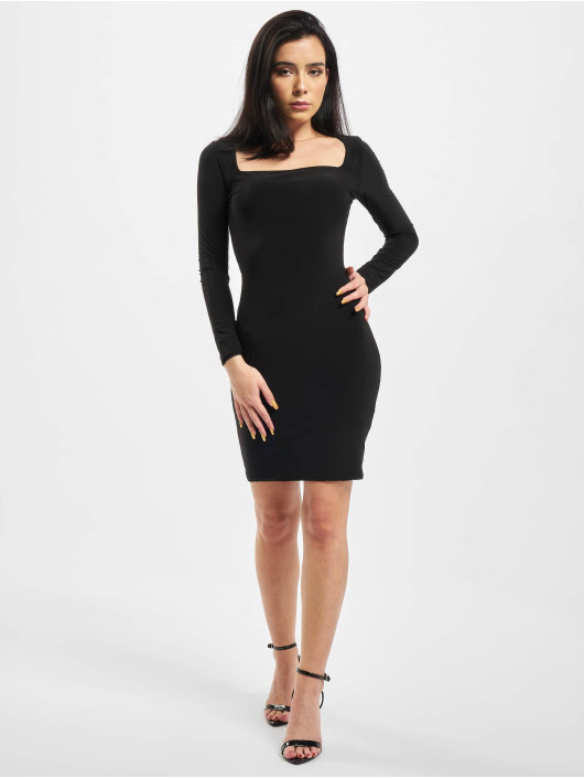 Missguided Dress Slinky Wide Neck black