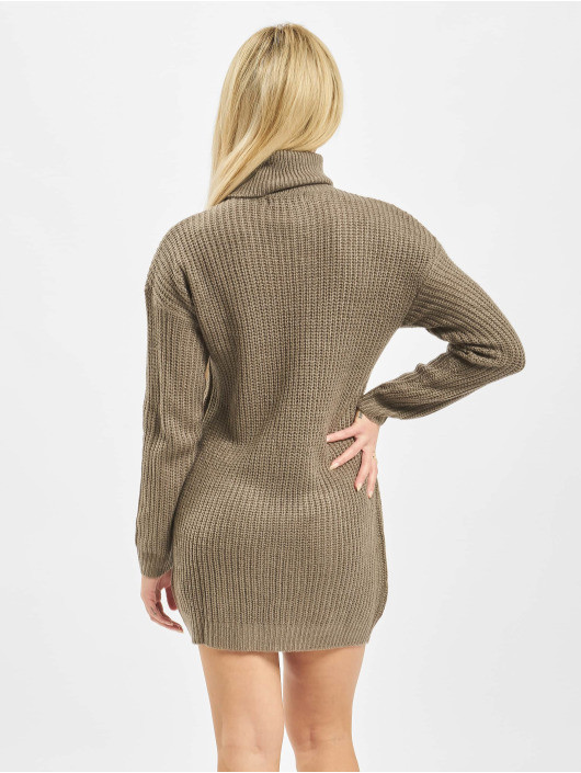 Missguided Dress Roll Neck Basic brown