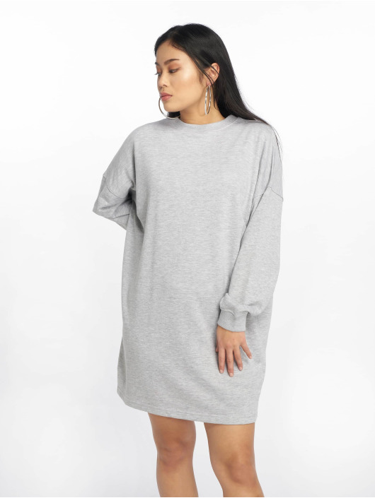 Missguided Dress Crew Neck Longline gray