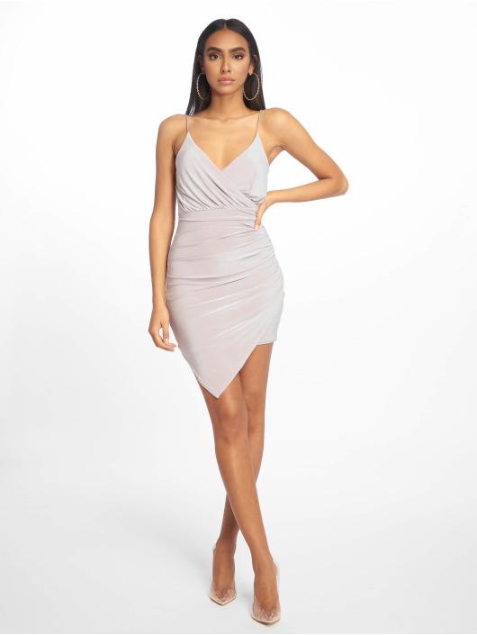 Missguided Dress Strappy Slinky Wrap Bodycon gray