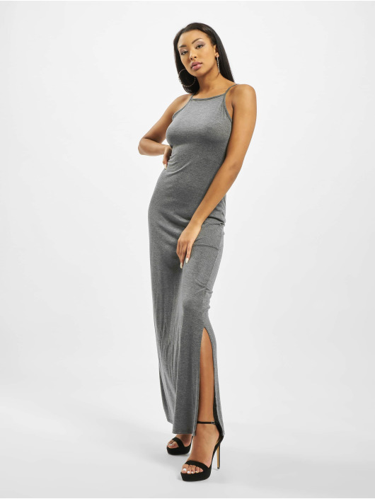 Missguided Dress Tall Side Split High Neck gray