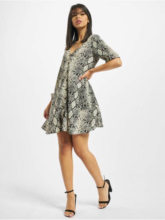 Missguided Dress Button Thru Smock Snake gray