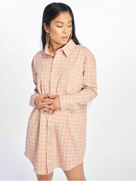 Missguided Dress Oversized Jersey Shirt pink