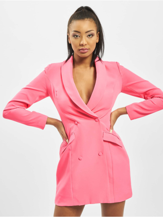 Missguided Dress Neon Pink Blazer pink