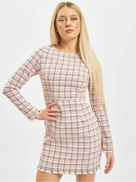 Missguided Dress Tweed Shift pink