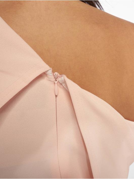 Missguided Dress One Shoulder Midi rose