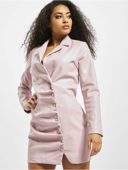 Missguided Dress Blazer PU rose