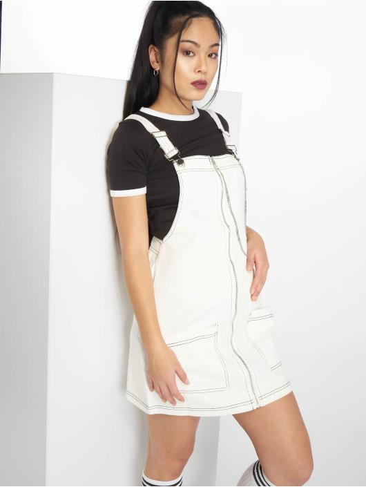 Missguided Dress Pini Contrast Stitch white