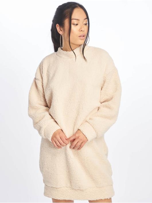 Missguided Dress Crew Neck white
