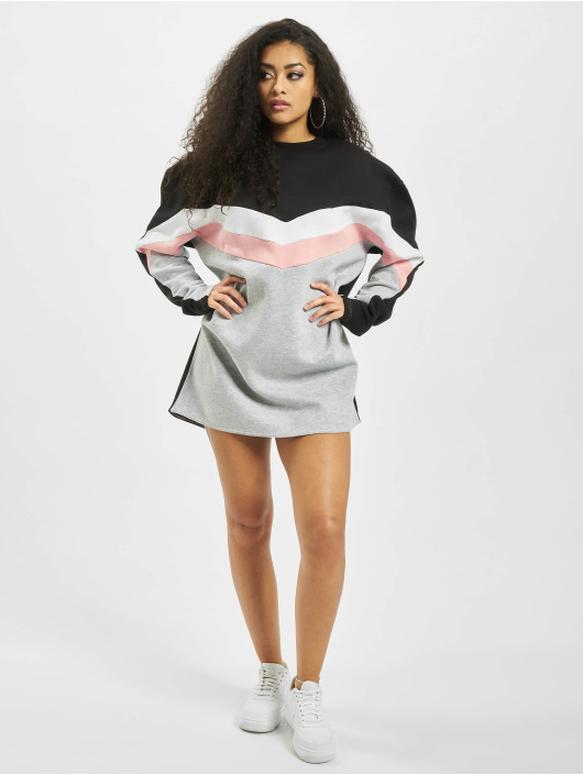 Missguided Dress Colour Block Sweater V white