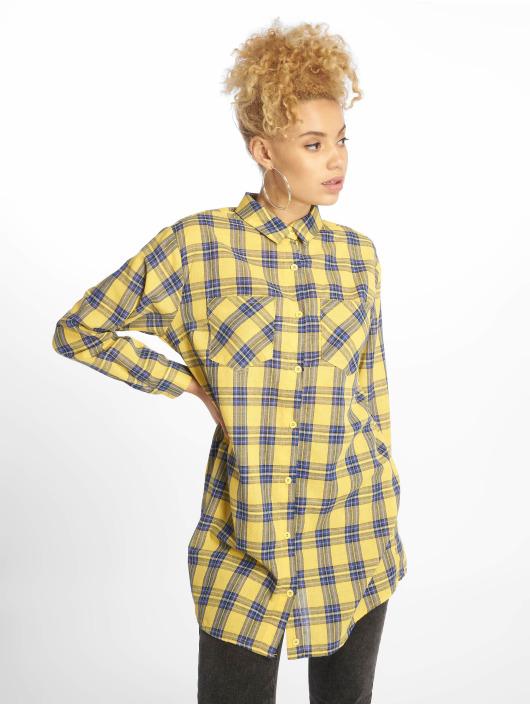 Missguided Dress Oversized Shirt yellow