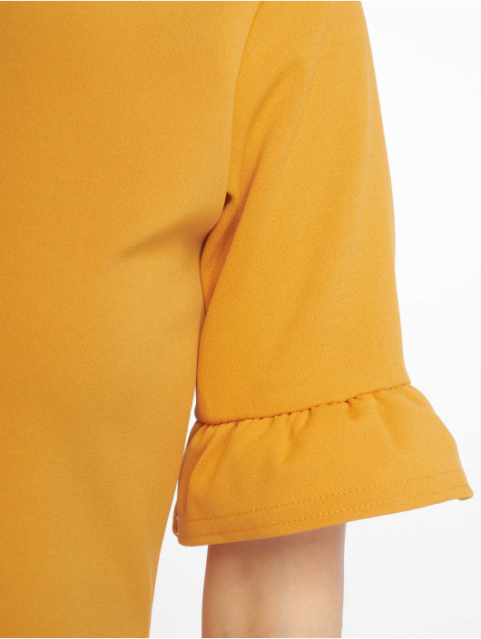 Missguided Dress Frill Detail Shift yellow