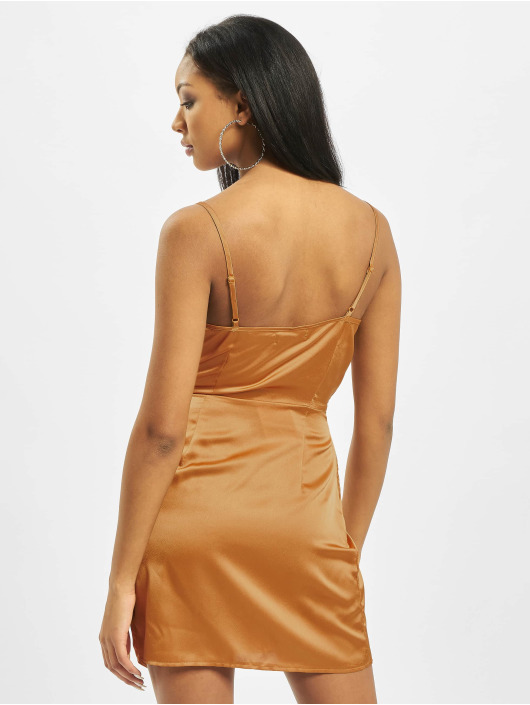 Missguided Dress Strappy Twist Shift yellow