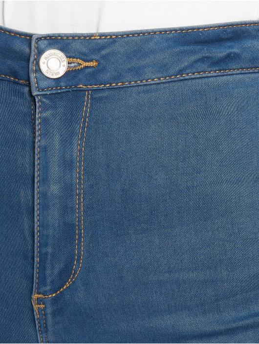 Missguided High Waisted Jeans Vice Highwaisted Slash Knee blue