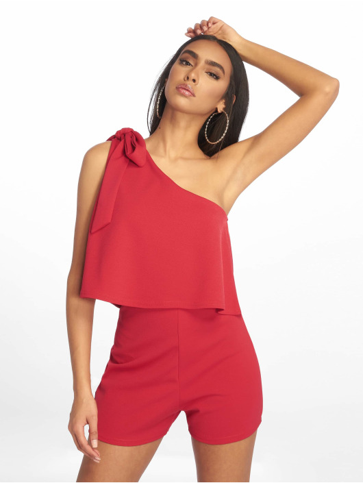 Missguided Jumpsuits One Shoulder Bow red