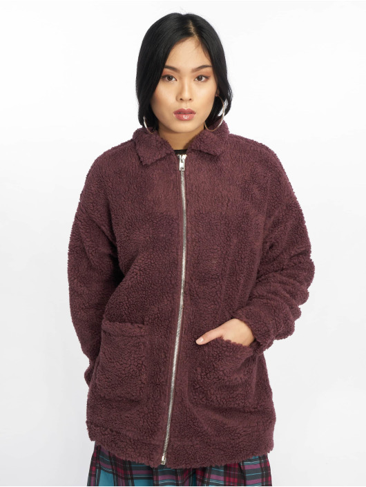Missguided Lightweight Jacket Oversized Borg red