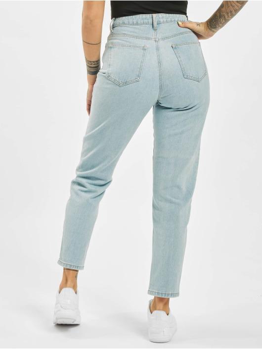 Missguided Mom Jeans Utility Button Plain Riot blue