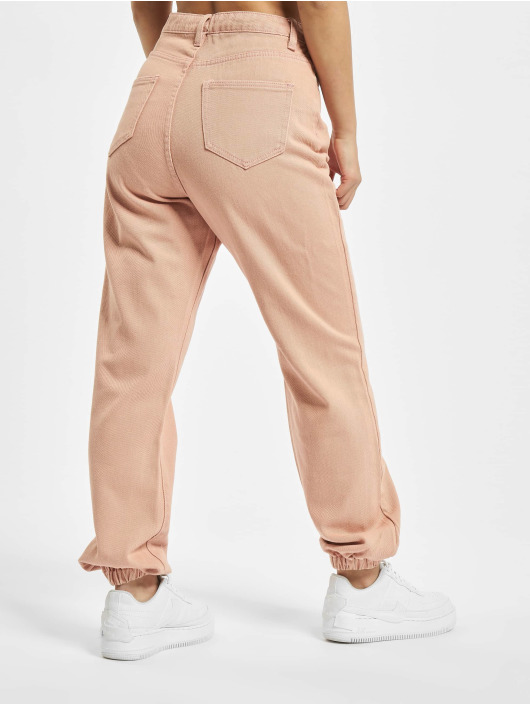 Missguided Mom Jeans Riot pink