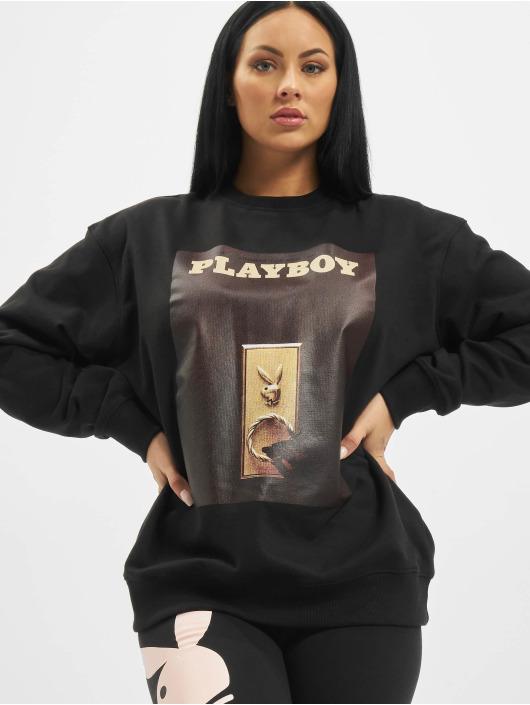Missguided Pullover Playboy Door Magazine black