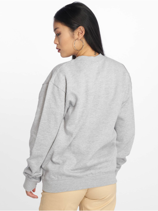 Missguided Pullover Calabasas West Coast Slogan gray