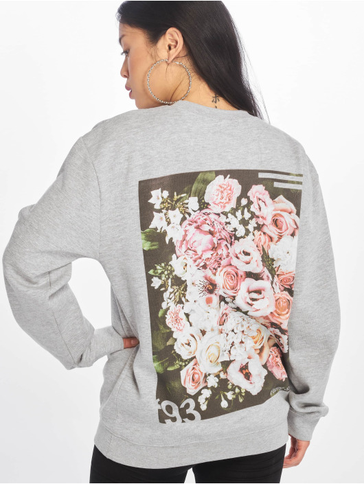 Missguided Pullover Floral Graphic Back Print gray