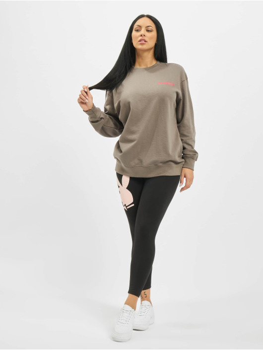 Missguided Pullover Playboy Girl Magazine gray