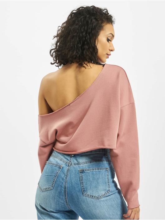 Missguided Pullover Off Shoulder rose
