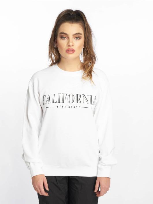 Missguided Pullover California Slogan white