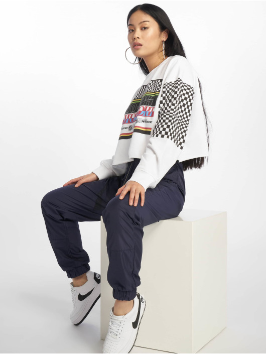 Missguided Pullover Motorsport white