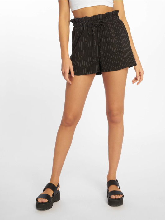 Missguided Short Pinstripe Gathered Wasit black