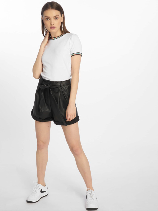 Missguided Short Faux Leather Belted black