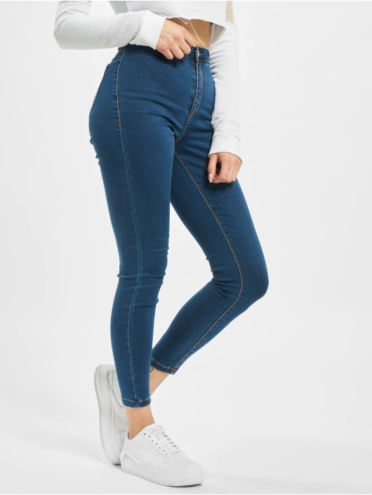 Missguided Skinny Jeans Petite Vice High Waisted blue