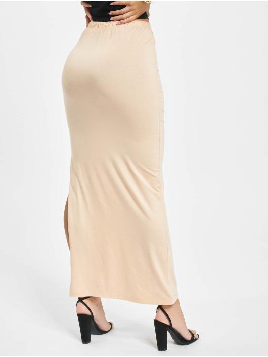 Missguided Skirt Side Split Maxi beige