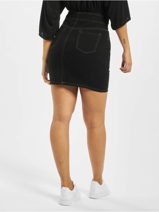Missguided Skirt Corset Waist Denim black