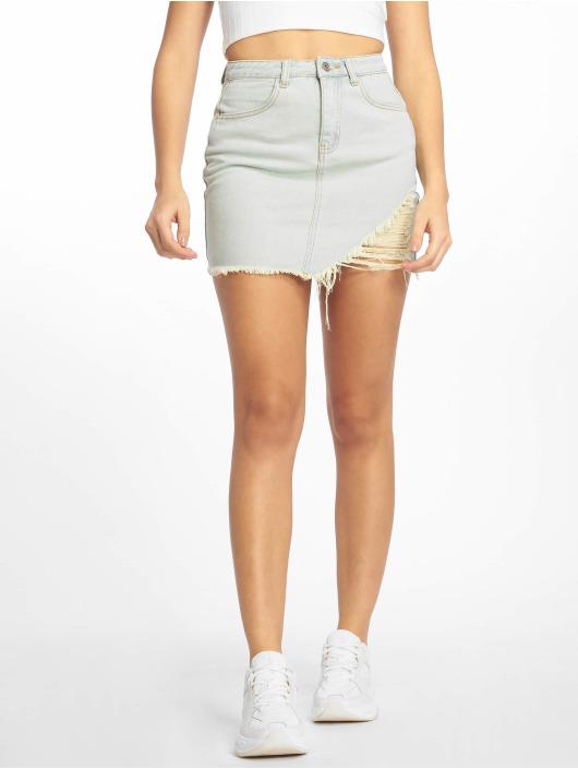 Missguided Skirt Vintage Asymetric Rip Denim blue