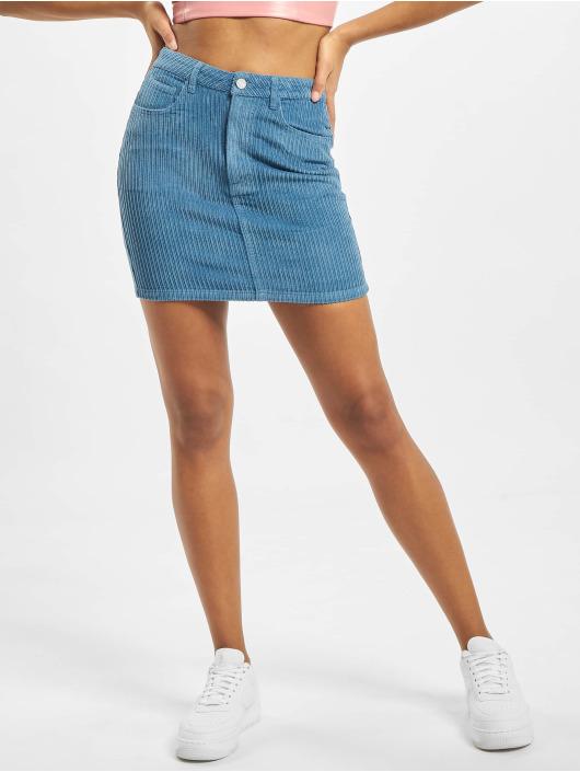 Missguided Skirt Jumbo Cord Petrol Co Ord blue