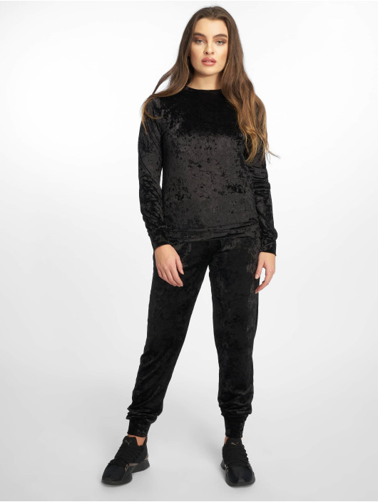 Missguided Suits Velvet Loungewear black